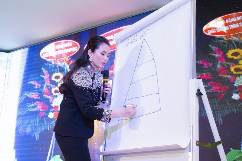 Doanh nhân Phạm Hà trực tiếp đứng lớp